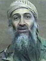 "Osama bin Laden making his ""Nineteen Students"" speech."