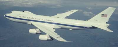 An E-4B Airborne Command Post.