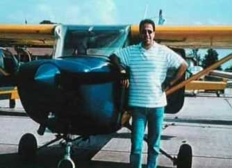 Ziad Jarrah standing next to a Cessna in Florida.