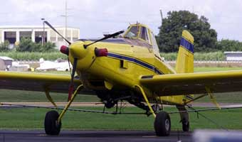 A crop duster at South Florida Crop Care.