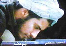 Ahmed Alnami in prayer.