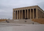 The Kemal Ataturk mausoleum in Ankara, Turkey.