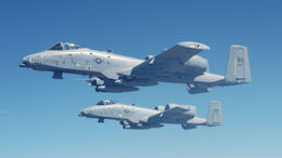 Two A-10 aircraft from Barksdale Air Force Base.
