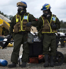 Members of the Chemical Biological Incident Response Force.
