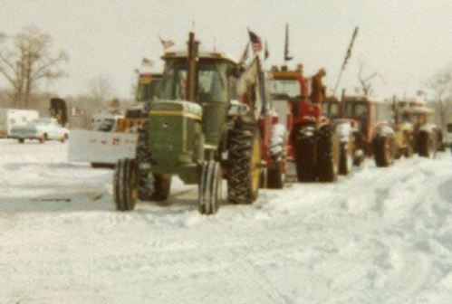 "The ""tractorcade"" in Washington, DC, in 1979."