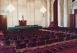 The Russell Senate Office Building Caucus Room.