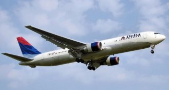A Delta Air Lines Boeing 767, the same kind of aircraft as Delta 1989.