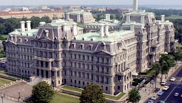 The Eisenhower Executive Office Building.