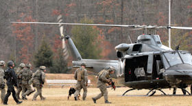 Members of the FBI's Hostage Rescue Team.