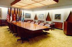 The Joint Chiefs of Staff conference room.