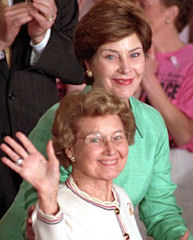 Laura Bush with her mother, Jenna Welch.
