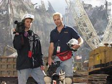 Kurt Sonnenfeld (right) at Ground Zero.
