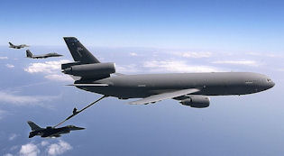 A KC-10 air tanker.
