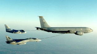 A KC-135 Stratotanker.