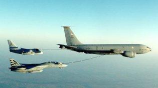 A KC-135 Stratotanker.