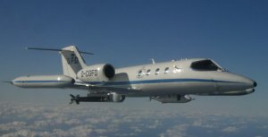 A Learjet 35A.