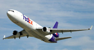 A FedEx MD-11 aircraft.