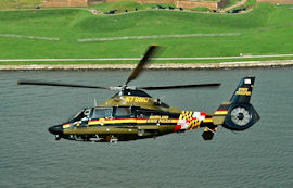 A Maryland State Police helicopter.