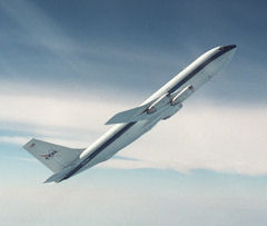 NASA&#8217;s KC-135 in parabolic flight.