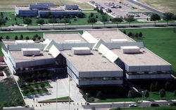 The NORAD headquarters building at Peterson Air Force Base.