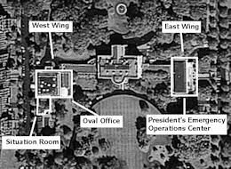 The location of the Presidential Emergency Operations Center.