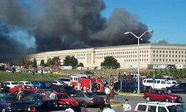 The Pentagon on fire.