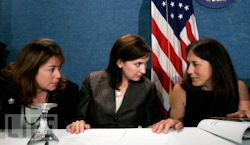 9/11 victims' family members Michelle Little, Christina Kminek, and Donna Marsh O'Connor.