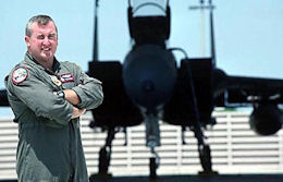 Captain Tom Herring, an F-15 pilot with the Florida Air National Guard.