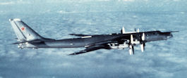 A Tu-95 Bear bomber.