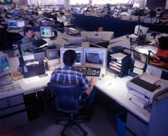 The United Airlines System Operations Control center.