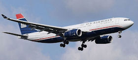 A US Airways airliner.