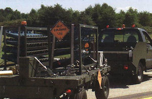 Weapons being driven across Andrews Air Force Base to the flight line on September 11.