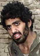 Yaser Esam Hamdi in Afghanistan shortly after being captured there.