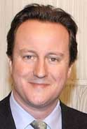 Conservative Party leader David Cameron.