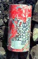 Flight 93&#8217;s flight data recorder, found at the crash site in Shanksville.
