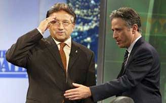 President Musharraf appeared on the Daily Show with Jon Stewart to promote his new book.