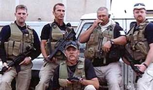 Private contractors in Iraq.