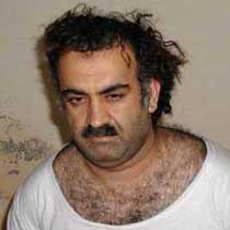A photo of Khalid Shaikh Mohammed allegedly taken during his capture in 2003 (there are controversies about the capture).