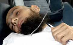 An ill Saud Memon shortly before his death.
