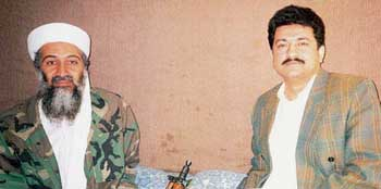 Hamid Mir interviewing Osama bin Laden shortly after 9/11.