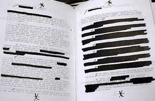 The final version of the 9/11 Congressional Inquiry's report is heavily censored.