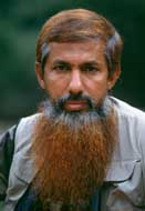 Abu Abdel Aziz Barbaros in Bosnia in September 1992. His beard is dyed with henna.
