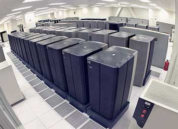 NSA servers used to collect and sift data.