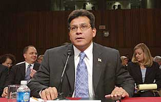 Alberto Gonzales testifies before Congress.