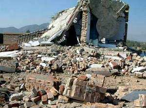 The Chenagai madrassa after the Predator strike.