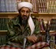 Bin Laden issuing his 1996 fatwa.