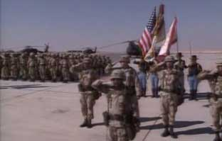 US troops in Saudi Arabia in the 1990s.