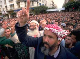 A large rally for the FIS on January 9, 1992, in Algiers, Algeria.