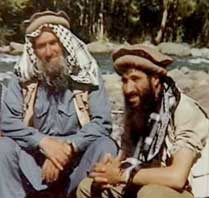 Sheikh Abdullah Azzam and his son-in-law Abdullah Anas in Afghanistan during the 1980s.