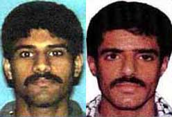 Nawaf Alhazmi (left) and Khallad bin Attash (right) are said to have been confused by an informer.